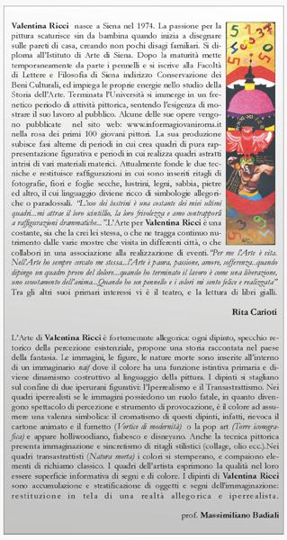Recensioni di massimiliano badiali pittura valentina ricci